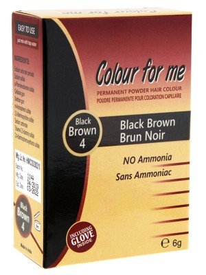 Wholesale Colour For Me Natural Permanent Powder Hair Colour - Black Brown 4