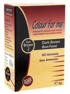 Wholesale Colour For Me Natural Permanent Powder Hair Colour - Dark Brown 2
