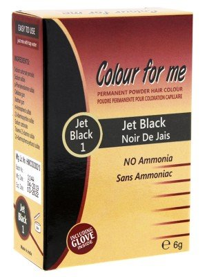 Wholesale Colour For Me Natural Permanent Powder Hair Colour - Jet Black 1