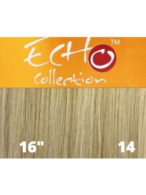 """Echo Human Hair Extensions - European Weave - Colour: 14 (16"""")"""