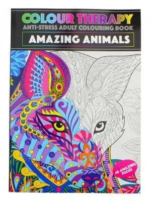 Wholesale Colour Therapy A4 Colouring Book - Animal Theme