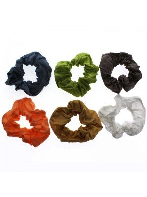 Wholesale Coloured Fabric Scrunchies - Assorted Colours
