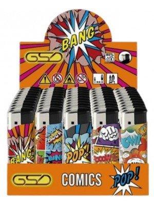 "Wholesale GSD Electronic ""Comics"" Design Refillable Lighters"