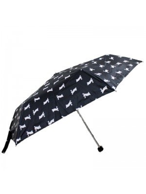 Wholesale Compact Umbrella- Forest Animals Black/ Brown