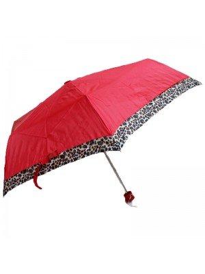 Wholesale Compact Umbrella-Assorted Colours Leopard Details