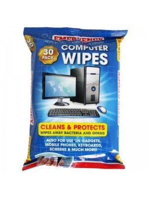 Anti-Bacterial Computer Cleaning Wipes-30 Wipes