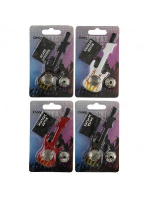 Wholesale Coney Guitar Shaped Metal Pipe - Assorted Colours