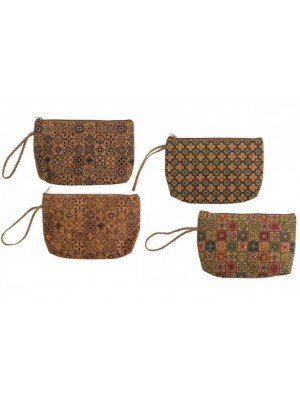 wholesale Cork Cosmetic Bag - Assorted Designs