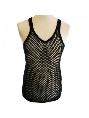 String Vest- Black