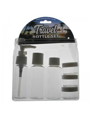 Wholesale County 7 Piece Travel Bottle Set