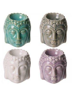 Wholesale Buddha Crackle Glaze Ceramic Oil Burner- Asst. Colours