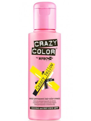 Crazy Color Semi-Permanent Hair Color - Canary Yellow