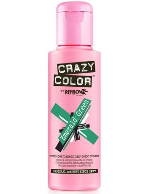 Crazy Color Semi-Permanent Hair Color - Emerald Green
