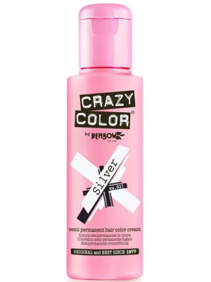 Crazy Color Semi-Permanent Hair Color - Silver