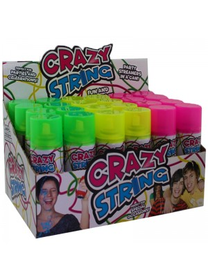 Wholesale Crazy String Spray Party Streamer - Assorted Colours