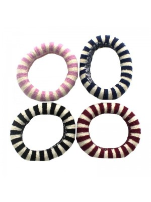 Small Woollen Hair Bands - 8 Pieces