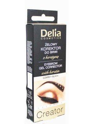 Wholesale Delia Cosmetics Eyebrow Gel Corrector With Keratin-7ml(Black)