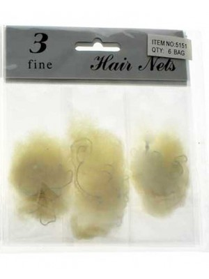 Wholesale Fine Hair Nets - Cream