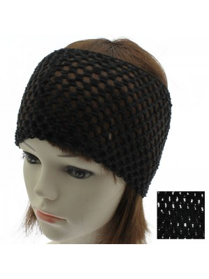 Crochet Design Headband - Black