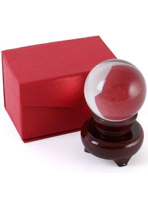 Crystal Ball with Stand - 6cm