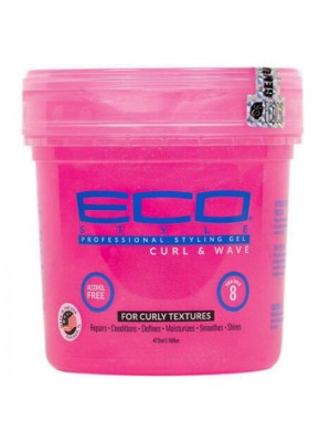 Wholesale Eco Professional Styling Gel - Pink - Curl & Wave (16 oz)