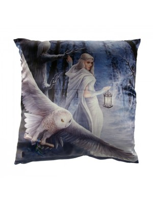 Anne Stokes Cushion 'Midnight Messenger' (42cm)