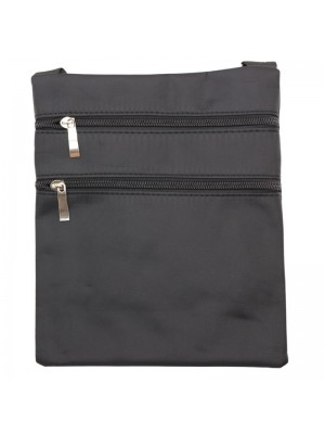 Classical Style Zippable Bag With String-Black