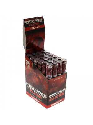 Cyclones Pre Rolled Transparent Flavored Cones -Cherry