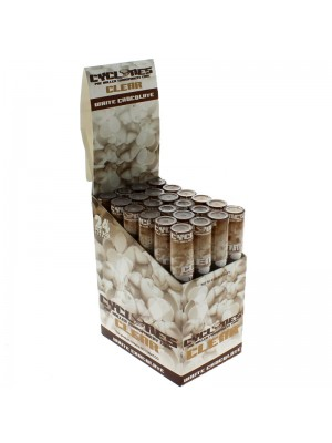 Cyclones Pre Rolled Transparent Flavored Cones -White Chocolate
