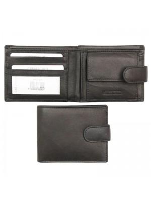 Wholesale Biggs & Bane Men's Leather Wallet With Closure Button - Black