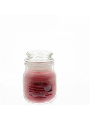 Dainty & Heaps Scented Jar Candles Baby Powder 3 oz