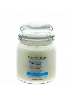 Dainty & Heaps Scented Jar Candles Clean Cotton 15 oz