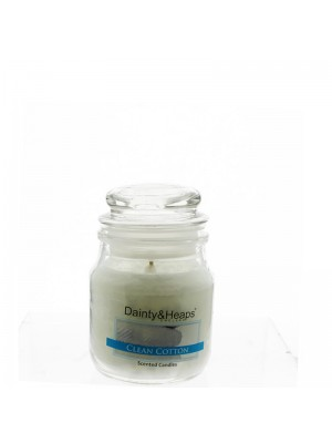 Dainty & Heaps Scented Jar Candles Clean Cotton 3 oz