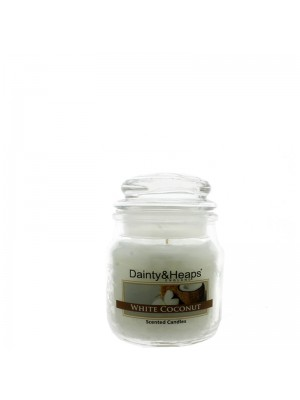 Dainty & Heaps Scented Jar Candles White Coconut 3 oz