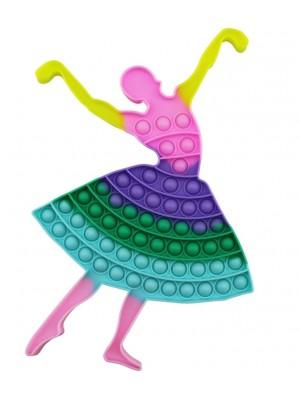 Wholesale Push & Pop Bubble Pastel Rainbow X-Large Fidget Toy - Dancing Lady
