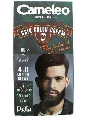 Cameleo Men Hair Color Cream - 4.0 Medium Brown