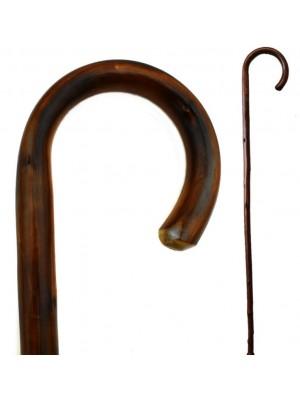 Chestnut Dark Brown Crook Walking Stick