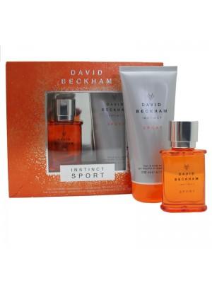 David Beckham Mens Perfume Gift Set -  Instinct Sport