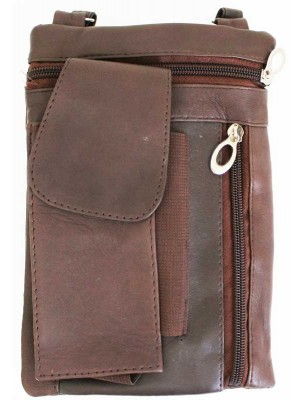 Wholesale Ladies Leather Purse With Leather String-Brown