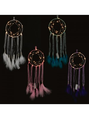 Woven Ribbon LED Dreamcatcher - Assortment