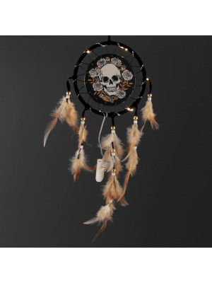 Wholesale Skulls and Roses LED Dreamcatcher