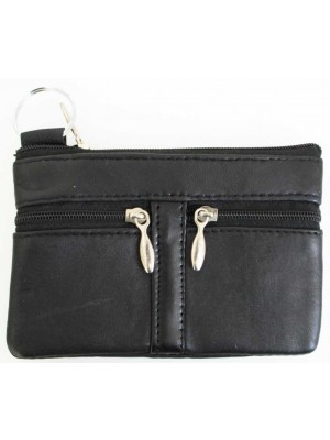 Wholesale Leather Coin Purse-Black(13cm x 9cm)