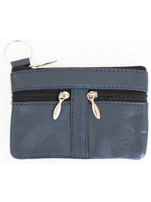 Wholesale Leather Coin Purse-Blue(13cm x 9cm)