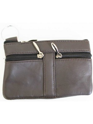 Wholesale Leather Coin Purse-Brown(13cm x 9cm)