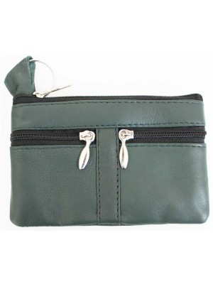 Wholesale Leather Coin Purse-Green(13cm x 9cm)