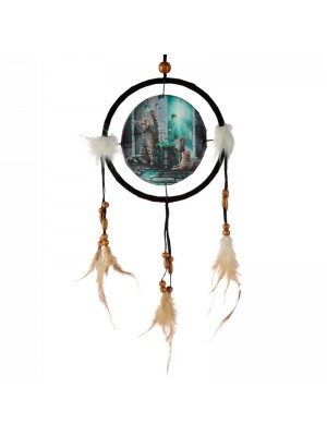 Wholesale Lisa Parker Hubble Bubble Cat and Kitten Dreamcatcher - 16cm