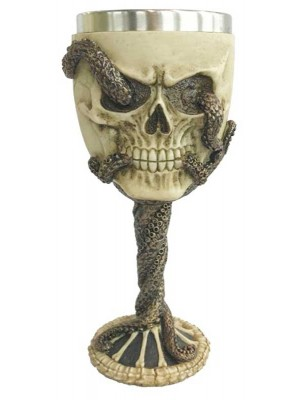 Wholesale Decorative Bronze Octopus Skull Goblet - 18cm