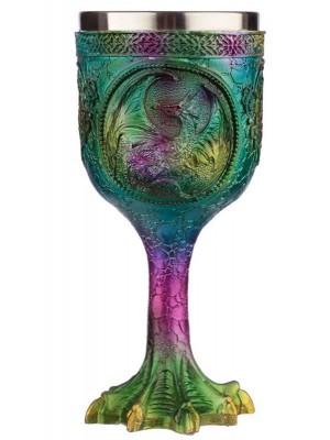 Decorative Metallic Rainbow Effect Dragon Goblet