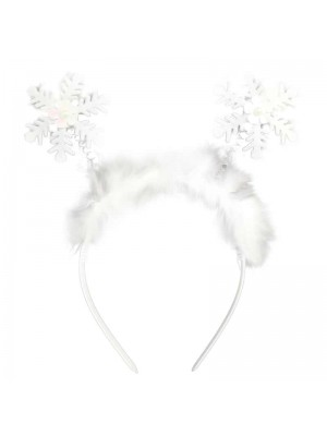 Wholesale Christmas Celebration Headband Deely Boppers - Snowflake