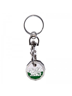 Trolley Coin Keyrings - Welsh Dragon